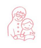 イラスト_本を読む親子