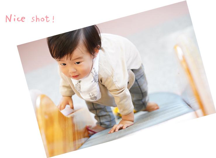Nice shot!滑り台を登る子ども