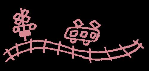 宮代町の電車のイラスト