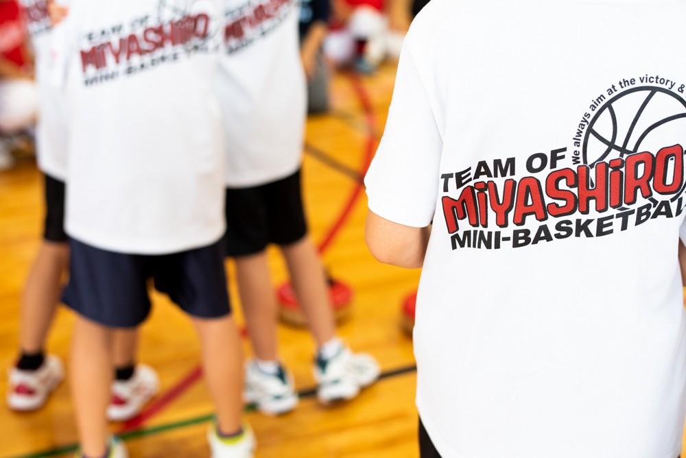 バスケットチームユニフォーム背面