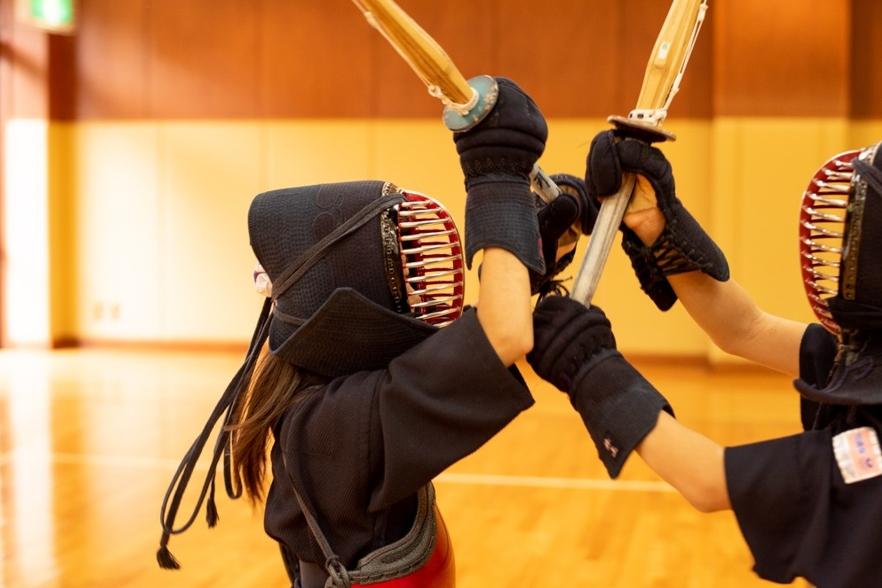 剣道をする子ども達