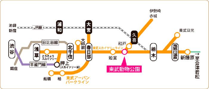 宮代さんぽ ~東武動物公園駅でぶらり編~ 地図