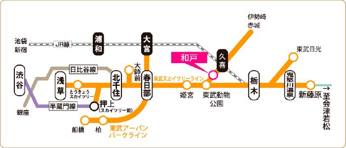 宮代さんぽ ~和戸駅でぶらり編~ 地図