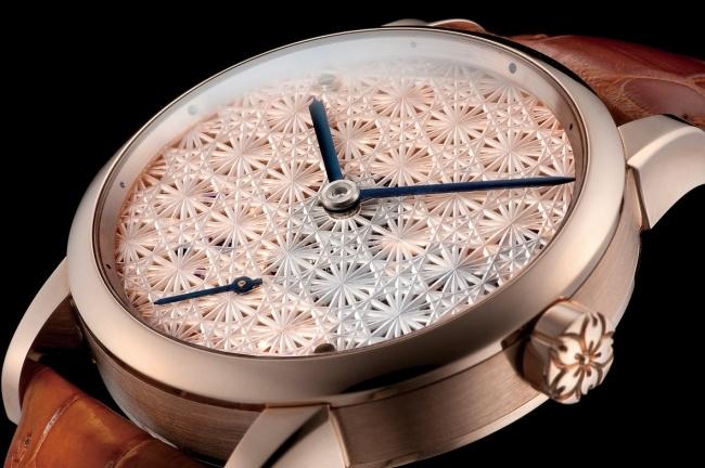菊繋ぎ紋 桜 時計