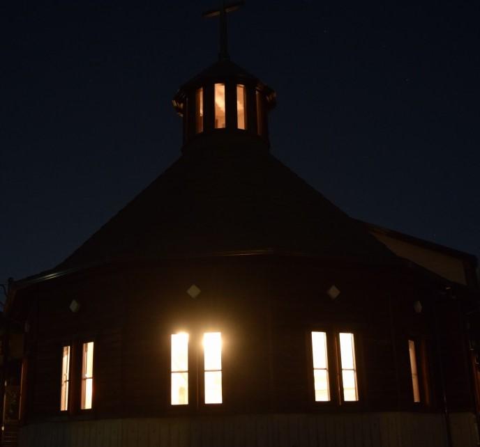 夜の和戸教会