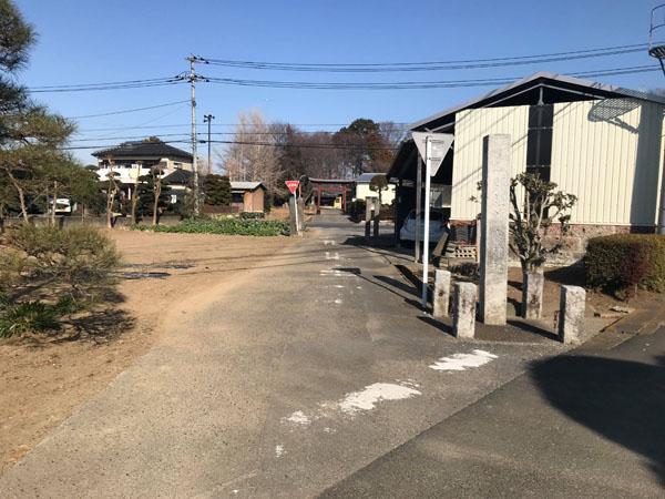 鎌倉街道からみた鷲宮神社