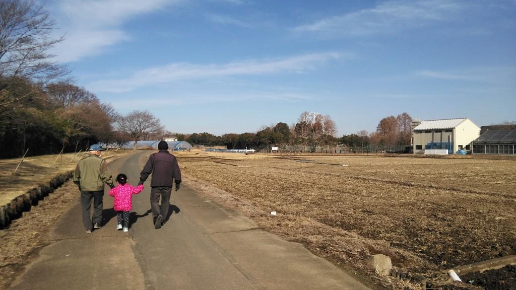 お散歩する3人