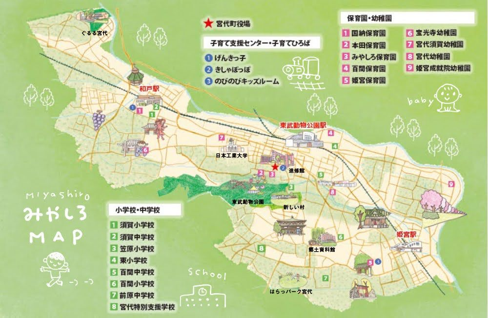 宮代町の地図